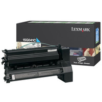 Lexmark 0015G041C Return Program Cyan Laser Toner Cartridge, 6K