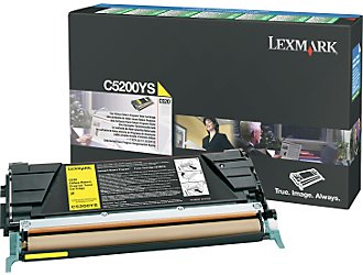 Lexmark C5200YS Return Program Yellow Toner Cartridge, 1.5K Page Yield