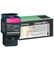 Lexmark C540A1MG Return Program Magenta Toner Cartridge, 1K Page Yield