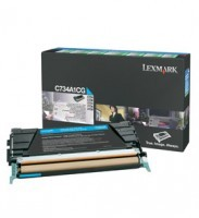 Lexmark C734A1CG Return Program Cyan Toner Cartridge, 6K Page Yield