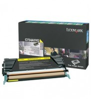 Lexmark C734A1KG Return Program Black Toner Cartridge, 8K Page Yield