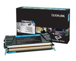 Lexmark C746A1CG Cyan (Return Program) Toner Cartridge, 7K Page Yield