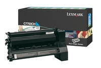 Lexmark C7700CH High Capacity Return Program Cyan Toner Cartridge, 10K Page Yield