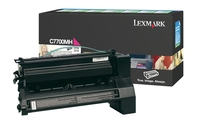Lexmark C7700MH High Capacity Return Program Magenta Toner Cartridge, 10K Page Yield