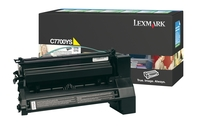Lexmark C7700YH High Capacity Return Program Yellow Toner Cartridge, 10K Page Yield