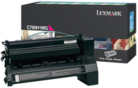 Lexmark C780A1MG Return Program Magenta Toner Cartridge, 6K Page Yield