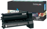 Lexmark C782X1CG Return Program Cyan Toner Cartridge, 15K Page Yield