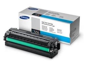 Samsung High Capacity CLT C506L Cyan Laser Toner Cartridge, 3.5K Page Yield