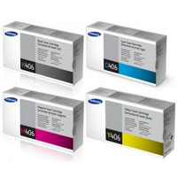 Samsung CLT-406 Quad Pack Black, Cyan, Magenta,Yellow Toner Cartridges