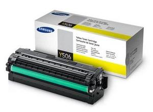 Samsung High Capacity CLT Y506L Yellow Laser Toner Cartridge, 3.5K Page Yield