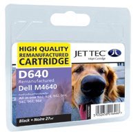 Jet Tec Replacement High Capacity Black Ink Cartridge (Alternative to Dell M4640)
