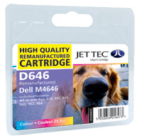 Jet Tec Replacement High Capacity Colour Ink Cartridge (Alternative to Dell M4646)