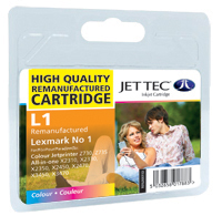 Jet Tec Replacement Colour Ink Cartridge (Alternative to Lexmark No 1, 18CX781E)