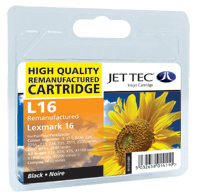 Jet Tec Replacement Black Ink Cartridge (Alternative to Lexmark No 16, 10N0016E)