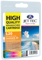 Jet Tec Replacement Colour Ink Cartridge (Alternative to Lexmark No 20, 15MX120E)