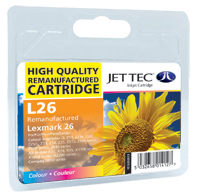 Jet Tec Replacement Colour Ink Cartridge (Alternative to Lexmark No 26, 10N0026E)