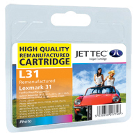 Jet Tec Replacement Photo Colour Ink Cartridge (Alternative to Lexmark No 31, 18C0031E)