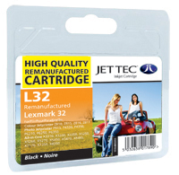 Jet Tec Replacement Black Ink Cartridge (Alternative to Lexmark No 32, 18CX032E)