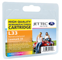 Jet Tec Replacement Colour Ink Cartridge (Alternative to Lexmark No 33, 18CX033E)