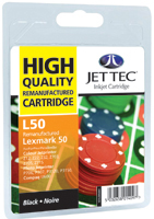 Jet Tec Replacement Black Ink Cartridge (Alternative to Lexmark No 50, 17G0050E)