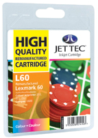 Jet Tec Replacement Colour Ink Cartridge (Alternative to Lexmark No 60, 17G0060E)