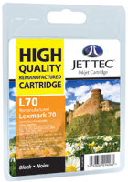 Jet Tec Replacement Black Ink Cartridge (Alternative to Lexmark No 70, 12AX970E)