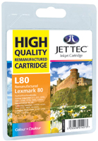 Jet Tec Replacement Colour Ink Cartridge (Alternative to Lexmark No 80, 12A1980E)