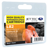 Jet Tec Replacement Black Ink Cartridge (Alternative to Lexmark No 82, 18LX032E)