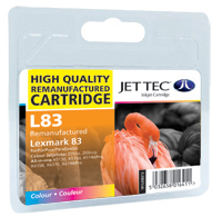 Jet Tec Replacement Colour Ink Cartridge (Alternative to Lexmark No 83, 18LX042E)