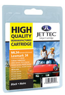 Jet Tec Replacement Black Ink Cartridge (Alternative to Lexmark No 28)