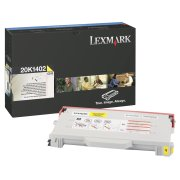 Reman Compatible RL1402Y Yellow Laser Cartridge for Lexmark 20K1402