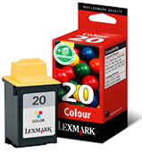 Lexmark High Capacity No 20 Colour Ink Cartridge - 15MX120E (15MX120E)
