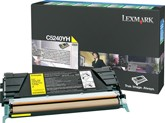 Lexmark C5240YH High Capacity Return Program Yellow Toner Cartridge, 5K Page Yield
