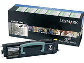 Lexmark 0X340A11G Return Program Toner Cartridge, 2.5K Yield