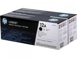 HP 12A Twin Pack Laser Toner Cartridges - Q2612AD