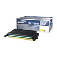 Samsung CLP Y660A Yellow Laser Toner Cartridge